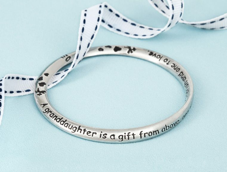 Message on bangle a granddaughter is a gift from above one to message on bangle a granddaughter is a gift from above one to cherish and negle Gallery