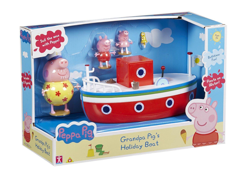 Peppa Pig Le Bateau De Vacances De Papy Pig Véhicule Et Figurines Amazon Fr Jeux Et Jouets Peppa Pig Jouet Cuisines Enfant Diy
