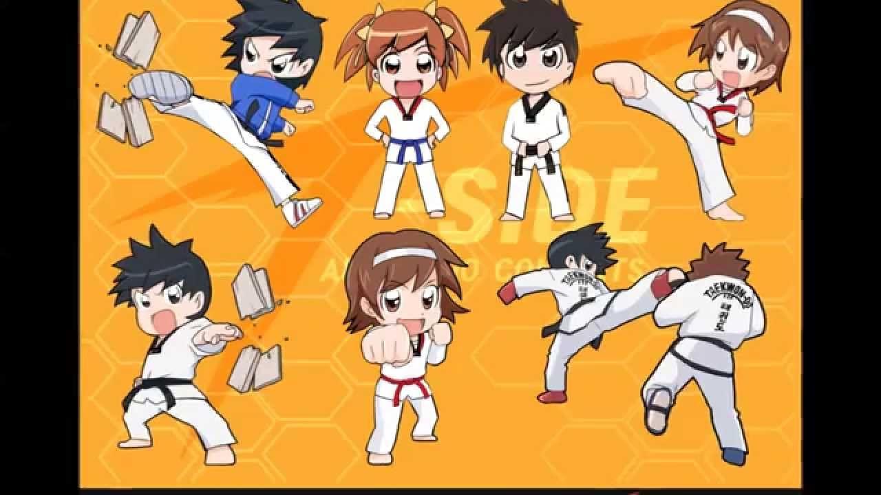 T Side 태권도 만화 Taekwondo Comic T Side 티사이드 태권도 캐릭터 만화 수채화 해바라기