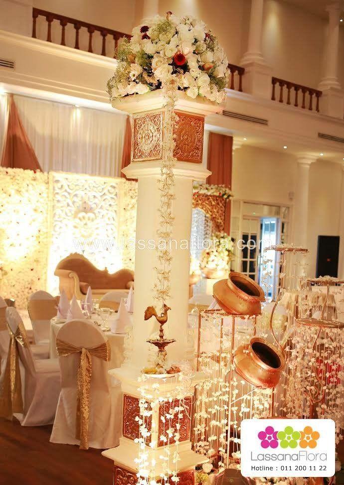 Pin By Samith Ruklantha On Poruwa Traditional Wedding Decor Oil Lamp Decor Wedding Deco