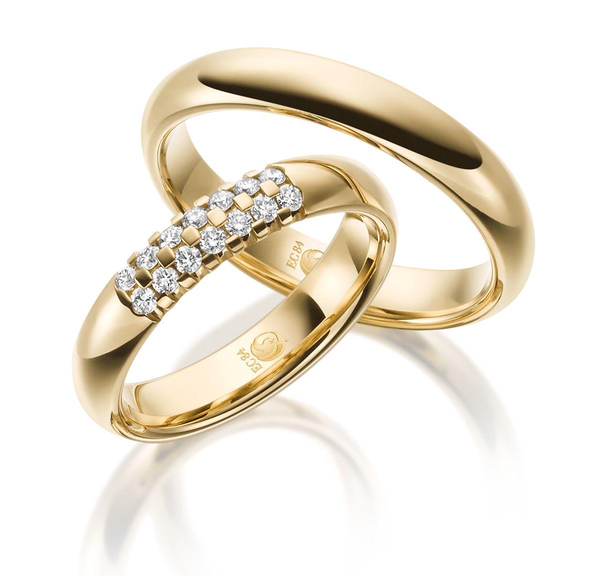 Eheringe Rubin Gelbgold Ru 1530 Trauringe Gold Jewelry Jewels