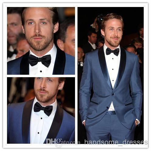 2f17ed579c1e7 wedding tuxedos Blue Mens Tailored Suit Blazer Trouser Coat Pant ...