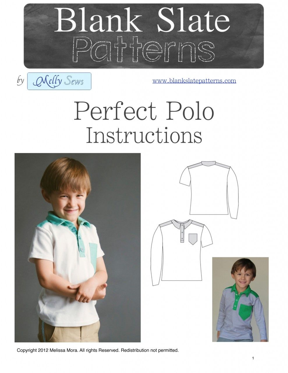 The Perfect Polo Unisex Sewing Pattern by Blank Slate Pattern via ...
