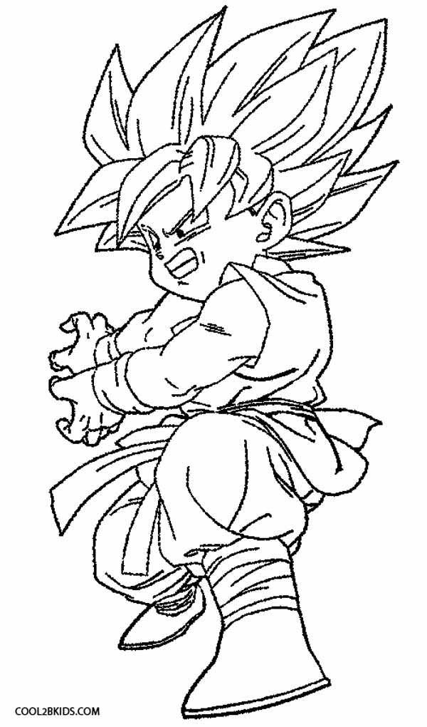 Printable Goku Coloring Pages For Kids Cool2bkids Dragon Ball Z Dragon Ball Cartoon Coloring Pages