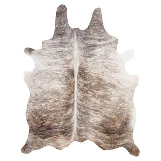 Light Brindle Cowhide Rug (6' x 7') - Free Shipping Today - Overstock.com - 17696891 - Mobile