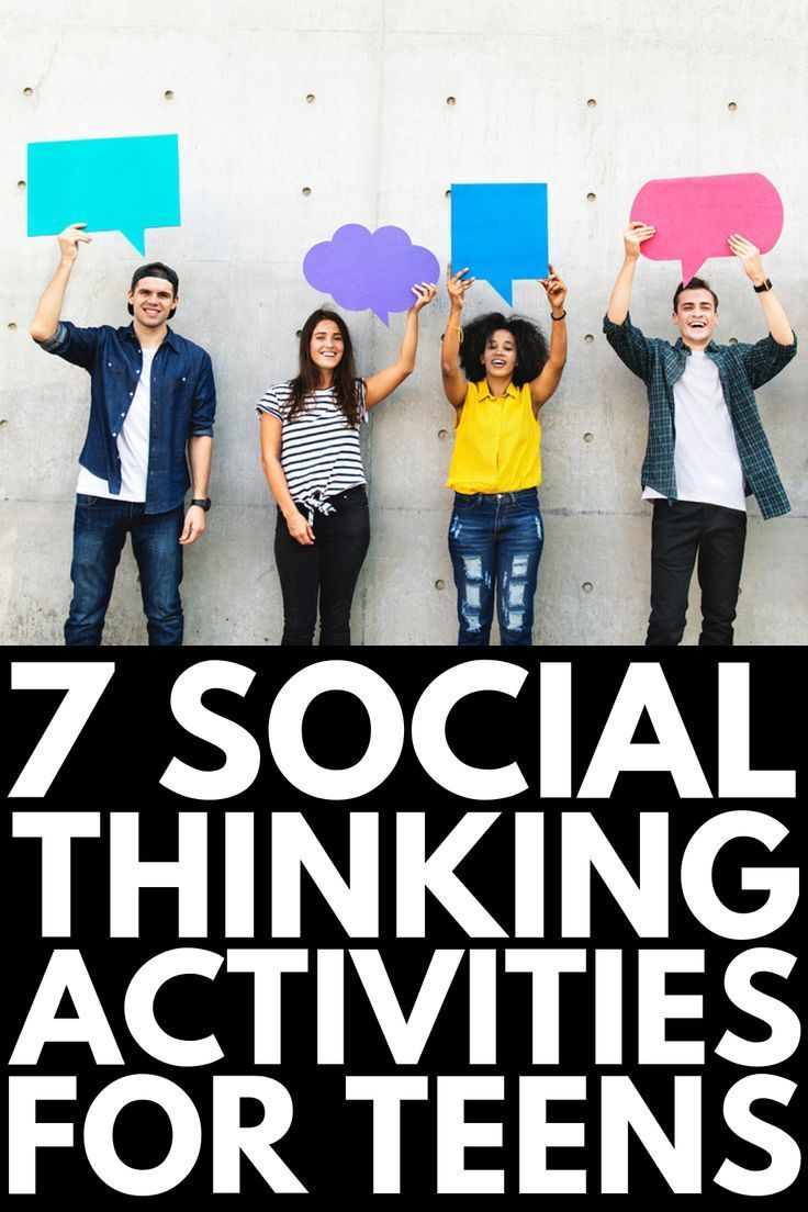 7 Social Thinking Activities for Teens   Designed to teach high school kids w…