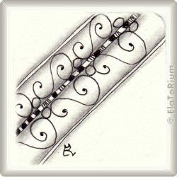 Zentangle-Pattern 'Curly Border' by LeeAnn Denzer, presented by www.ElaToRium.de