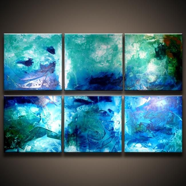 Composition Blue bg.jpg - by Peter D. from Abstract Geometric Art ...