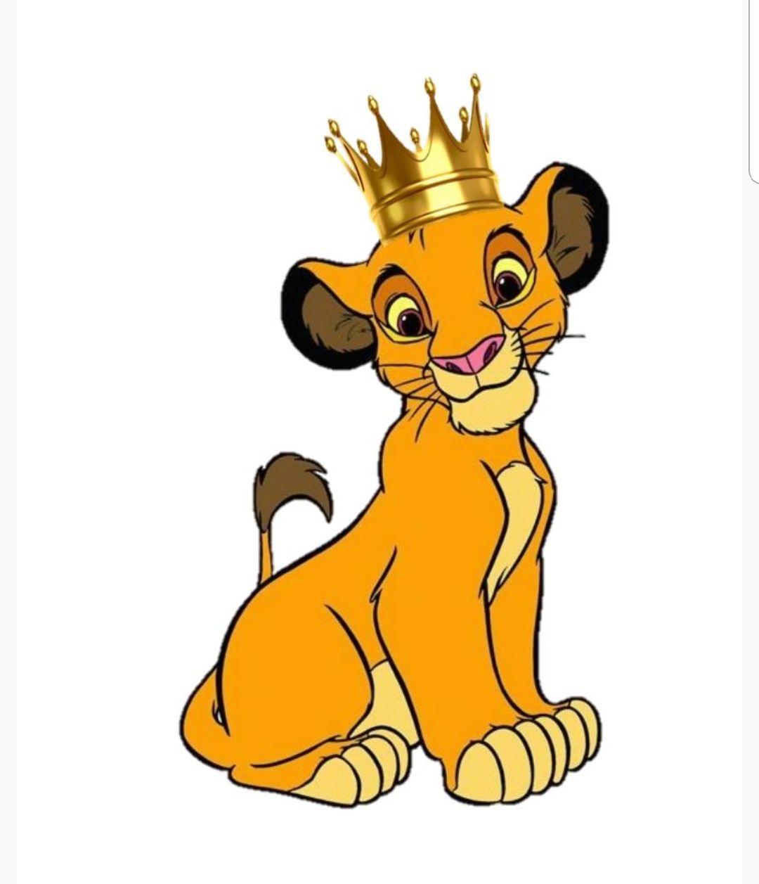 Simba Rey Lion King Birthday Lion King Pictures Lion King Theme Cartoon lion wearing a crown premium vector. simba rey lion king birthday lion
