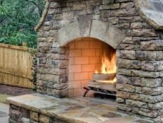 20 Cozy Outdoor Fireplaces Hgtv With Images Outdoor Patio