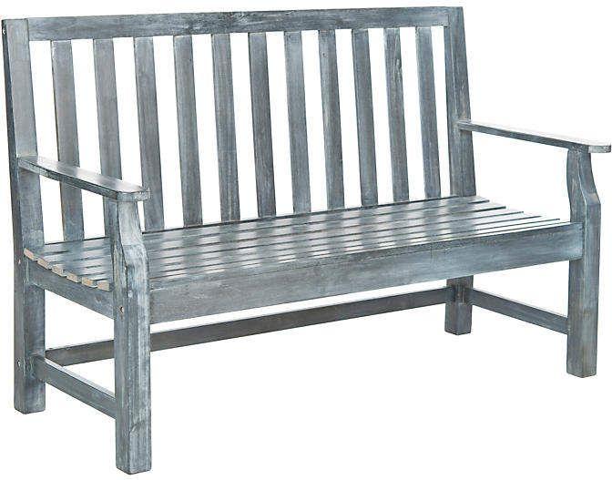 One Kings Lane Outdoor Dorset 60 Bench Ash Gray Outdoor Furniture Outdoor Bench Patio Bench