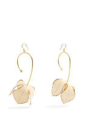 Marni Circle and flower drop earrings HwHiaAt