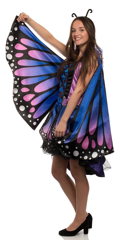 2639b10c209445 BRANDSSELLER Damen Kostüm Verkleidung für Karneval Fasching Halloween  Parties - Schmetterling, - Werbung #Fasching