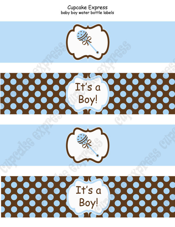 DIY Baby Boy Collection PRINTABLE Thank You Tags by CupcakeExpress