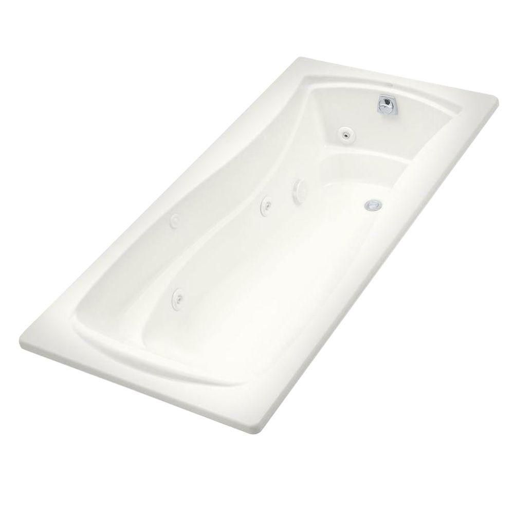 Kohler Mariposa 6 Foot Whirlpool Tub with Heater and Reversible ...