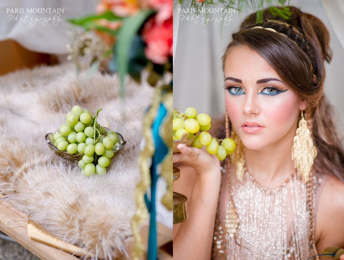 Cleopatra Styled Shoot | Camel | Swan House | Egypt | Paris Mountain Photography |Glamour Affair Hair and Makeup | A Perfect Wedding Floral Design| Invitation Creations | Honeymoon Bakery