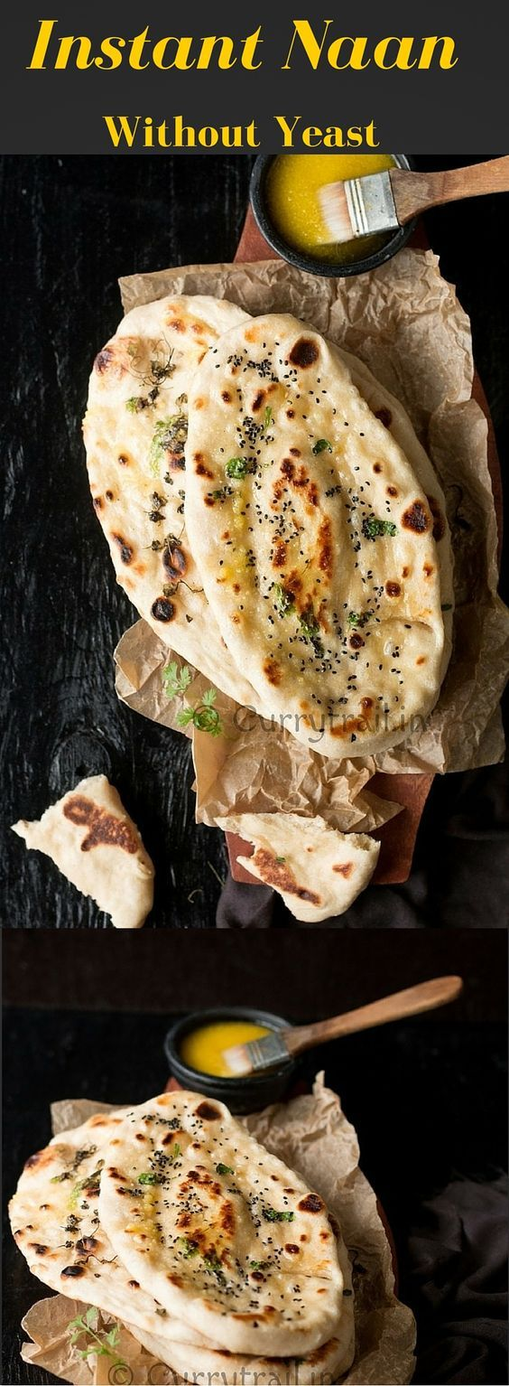 Homemade Naan Recipe Without Yeast   Recipe   Homemade ...