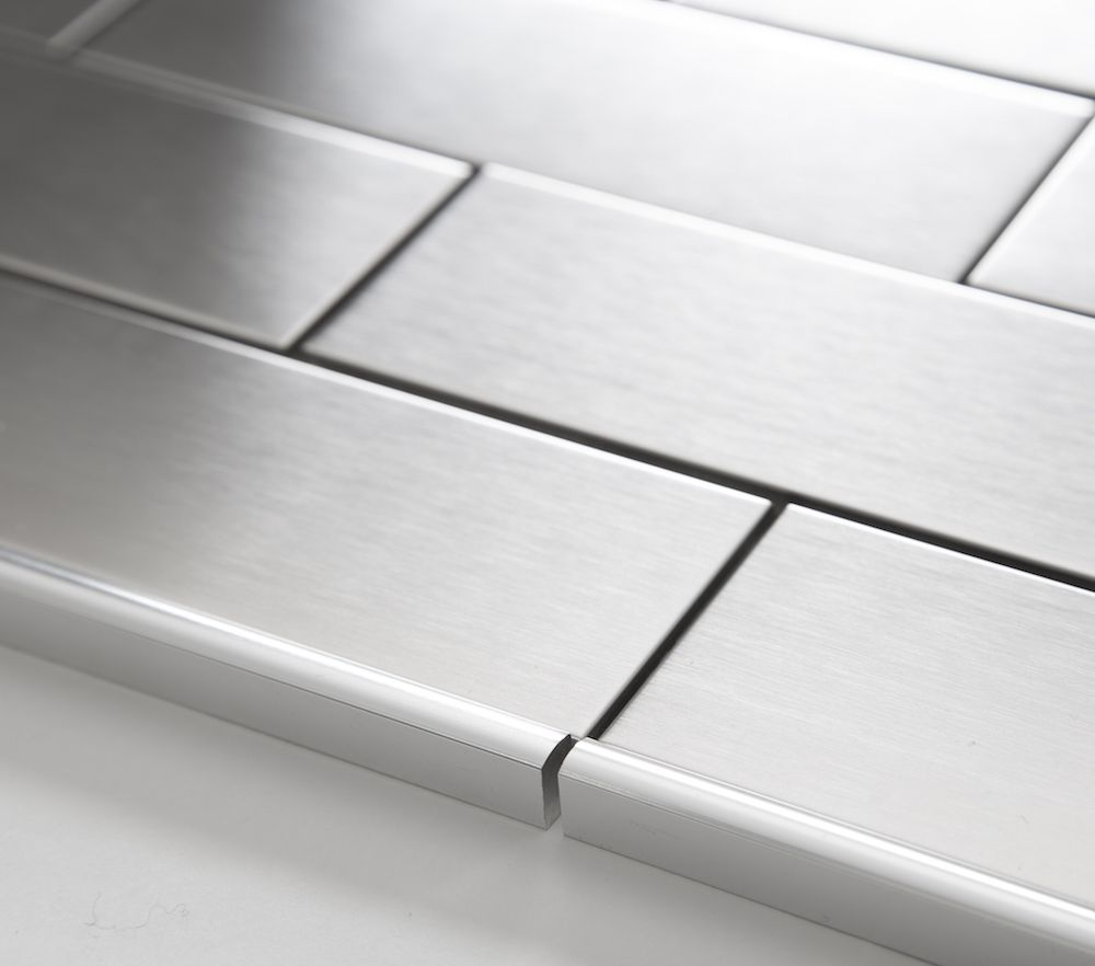 Stainless steel floor tile trim httpnextsoft21 pinterest stainless steel floor tile trim dailygadgetfo Image collections
