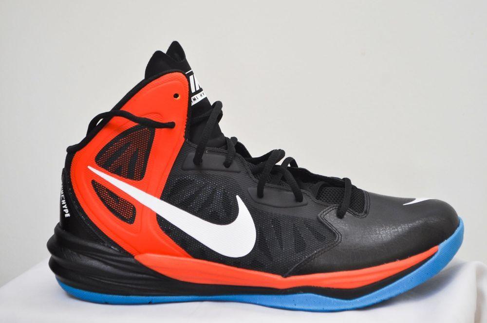 Nike Men Prime Hype DF Basketball Training Shoes Black, University Red size  11.5 #Nike