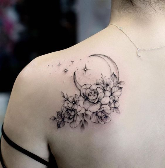 26 fantastic floral shoulder tattoo design ideas for women – # design #fantast …. #diytattoo - diy best tattoo ideas