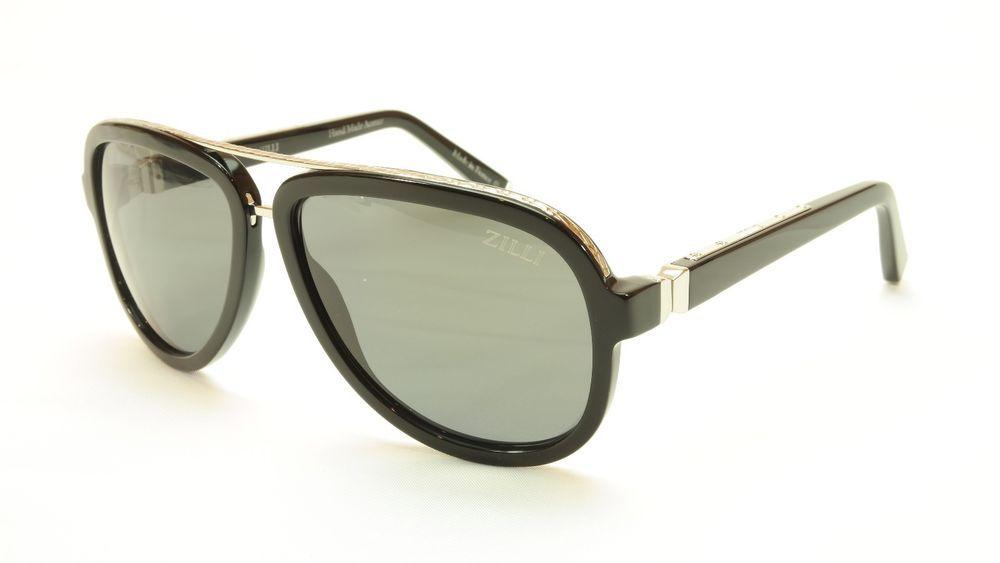 db2249ec91a ZILLI Sunglasses Polarized Hand Made Acetate Titanium Black France ZI 65003  C03  ZILLI  Aviator