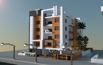 Bon Modern Apartment Building, A Minecraft Creation.