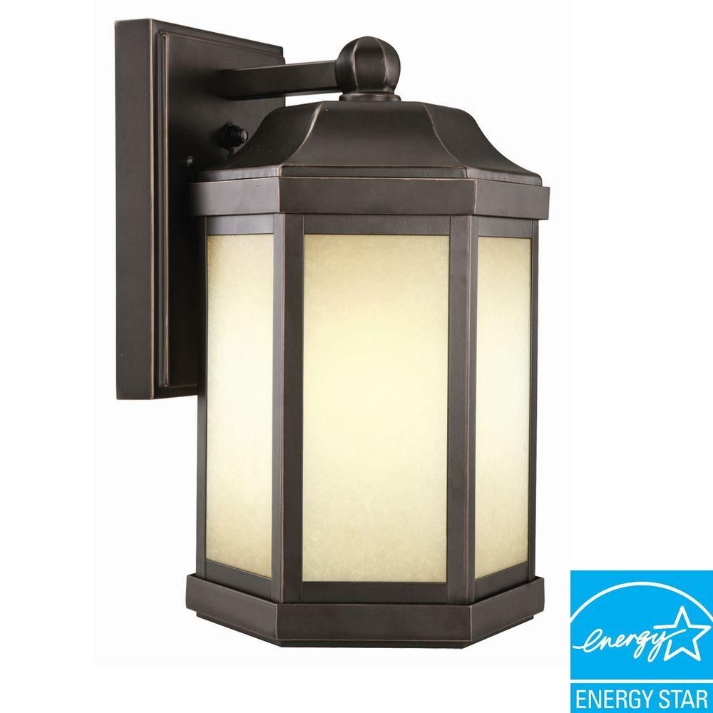 Bennett oil rubbed bronze fluorescent outdoor wallmount downlight