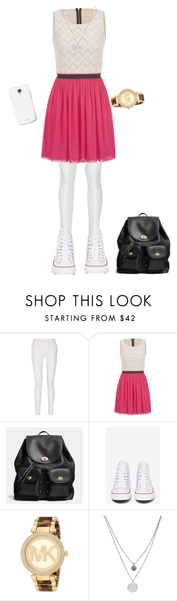 """""""cute girl"""" by nina00-i ❤ liked on Polyvore featuring Donna Karan, maurices, Coach, Converse, Michael Kors, Kenneth Cole, women's clothing, women, female and woman"""