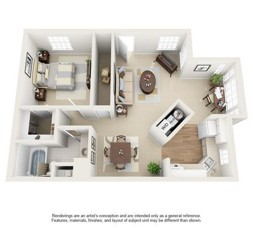 One Bedroom Plan Amelia At Mission Bay Apartments Floor Plans Two Bedroom Apartments Apartment
