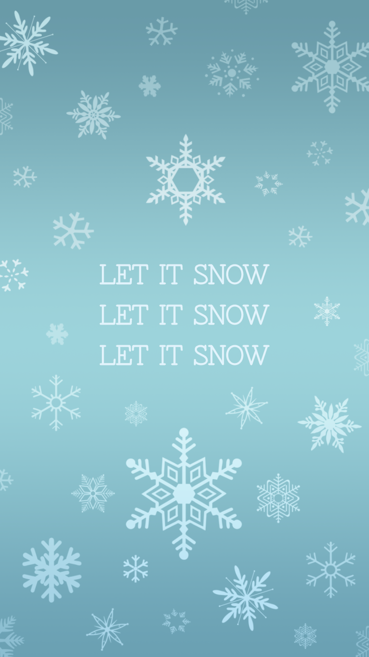 Let It Snow Snowflake Iphone Wallpaper Plus More Free Holiday Theme Wallpapers Christmas Wallpaper Backgrounds Holiday Wallpaper Winter Wallpaper
