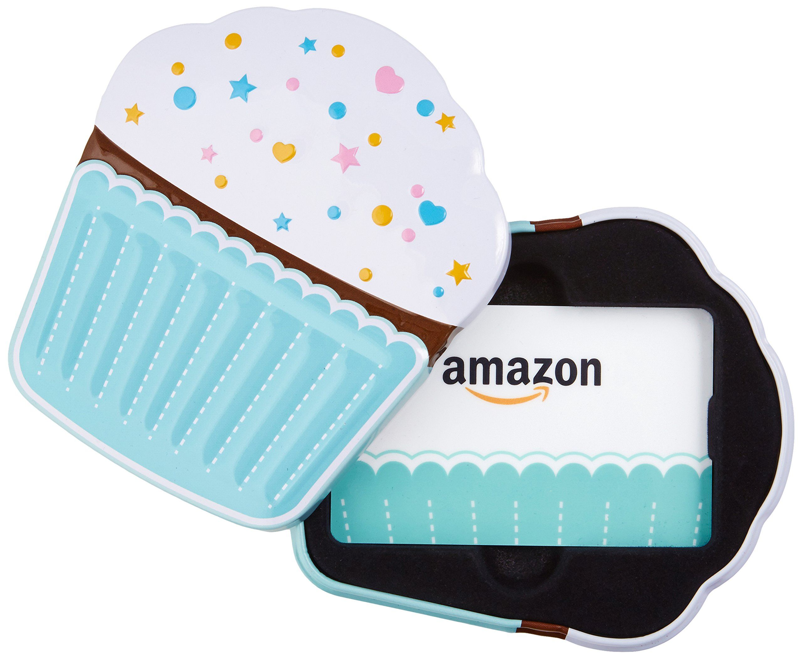Amazon Gift Card In A Birthday Cupcake TinCard Tin