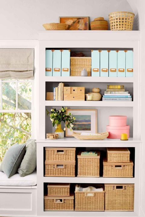 20 Easy Ways to Organize Your Bedroom is part of bedroom Organization Bookshelf - Your room will look brand new with these simple solutions