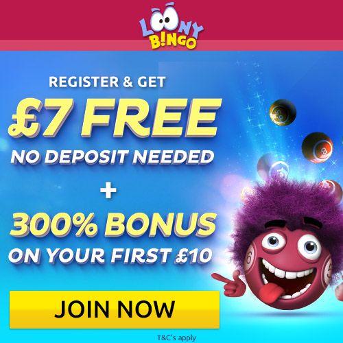 Looney bingo no deposit online