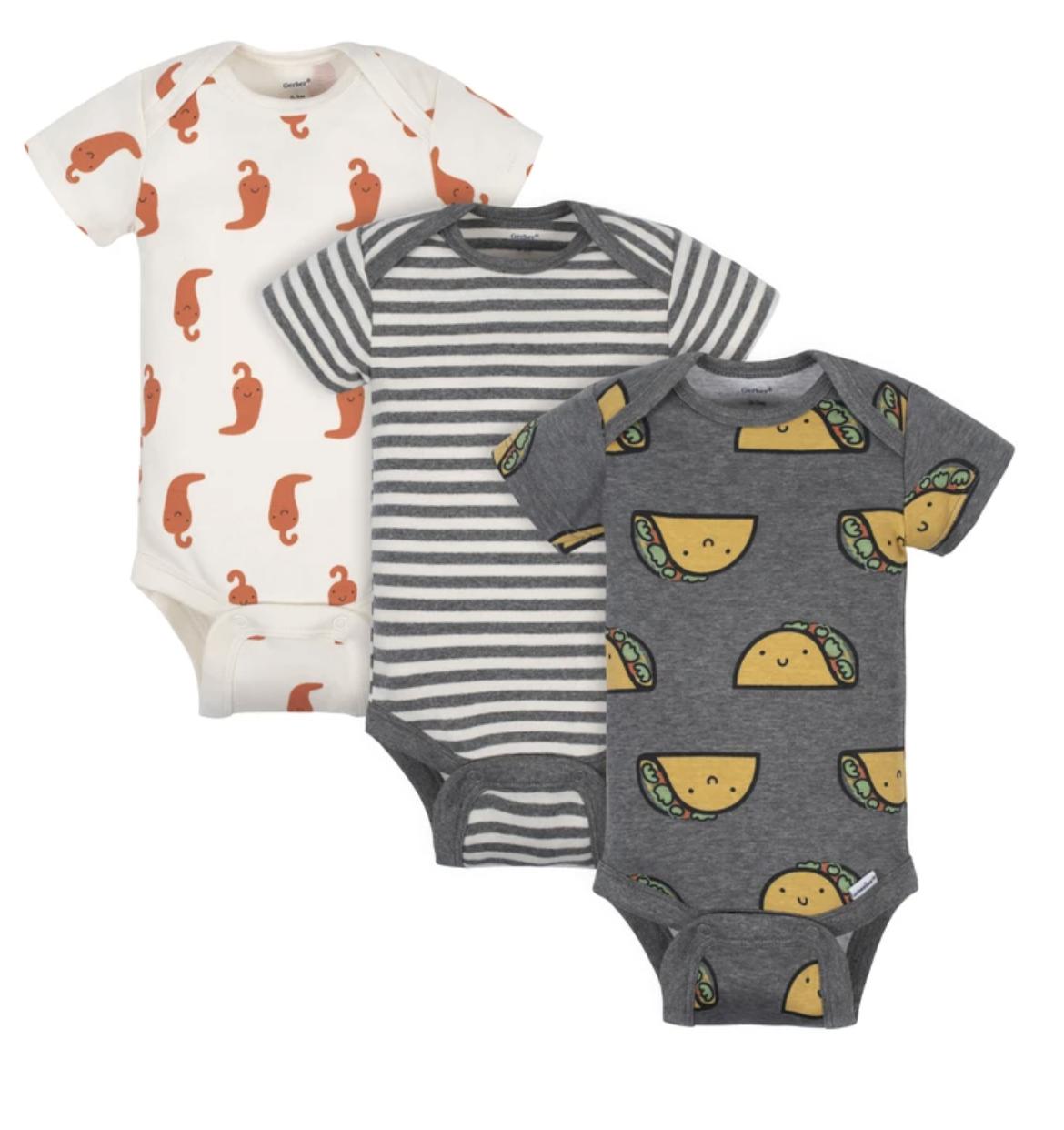 Gerber® 7-Pack Baby Taco Short Sleeve Onesies Bodysuits - Limited