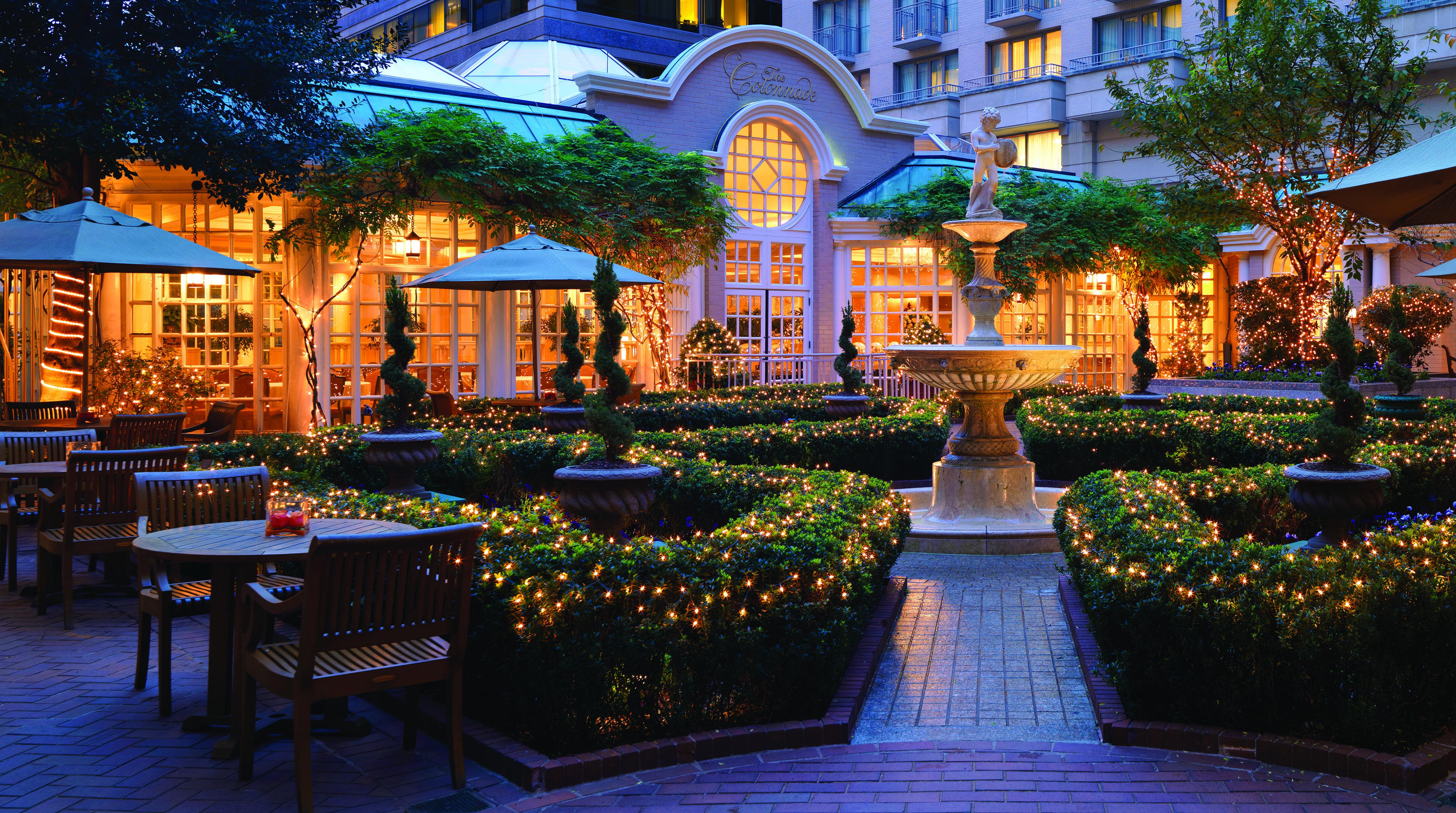 Fairmont washington dc love the courtyard at night