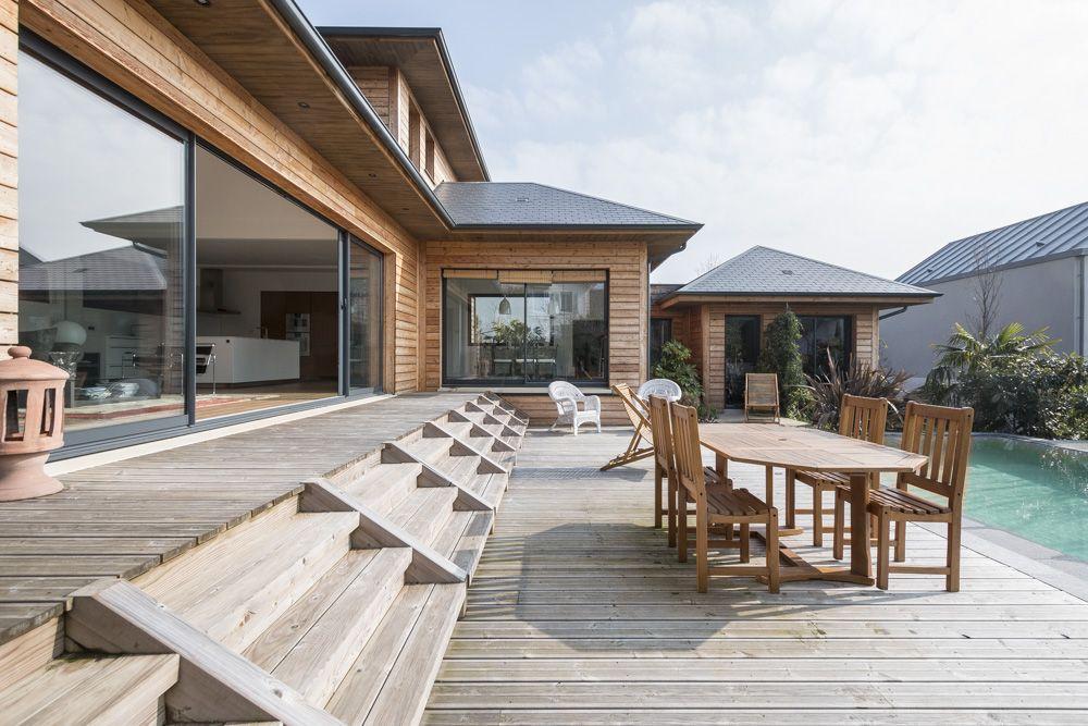 Paris : Maison à ossature bois avec piscine | Maison en 2019 ...