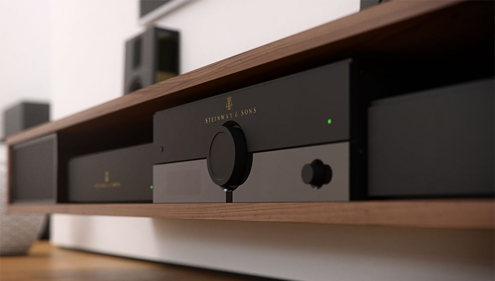 The new Steinway Lyngdorf P200 surround-sound processor receives the