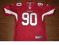 Men's Arizona Cardinals Darnell Dockett #90 Authentic Team Color Red  supplier