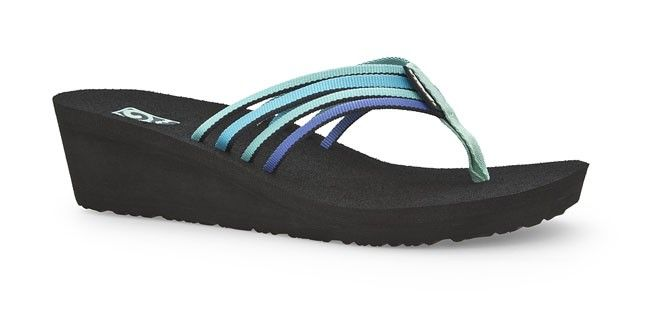 f45fcb4c44b578 Teva Women s Mush Adapto Wedge Sandals ELECTRIC BLUE MULTI 1000098B Flip  Flops