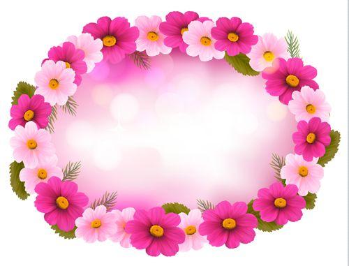 beautiful flower frame vector graphics free vector in encapsulated postscript eps eps vector illustration graphic art design format format for free