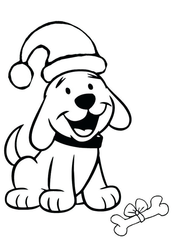 Christmas Coloring Pages for Preschoolers | Dog coloring ...