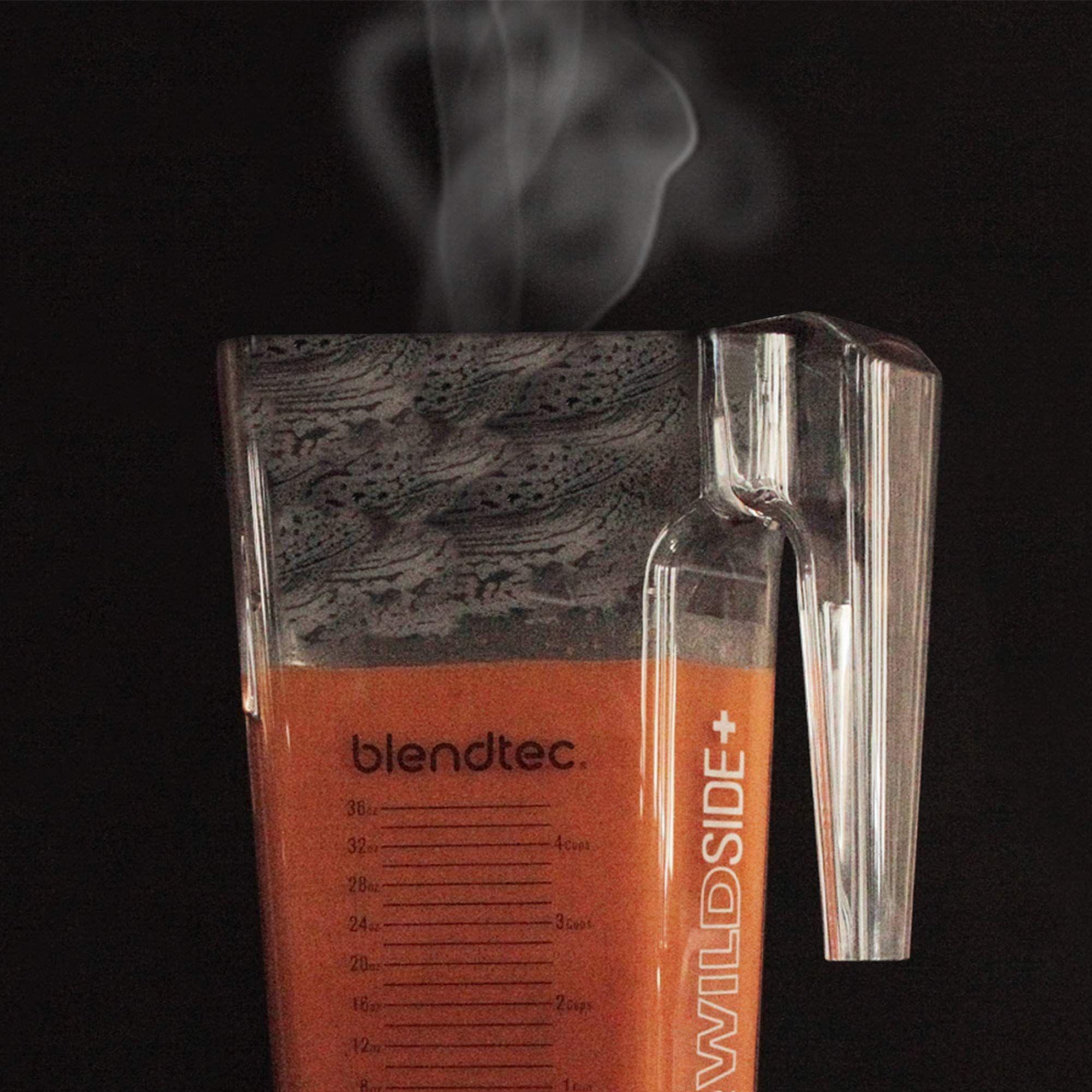 Five Sided Blendtec WildSide+ Jar Professional-Grade Blender Jar Vented Latching Lid BPA-free Clear 90 oz volume//36 oz Wet//Dry Fillable