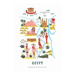 Egypt Map Print