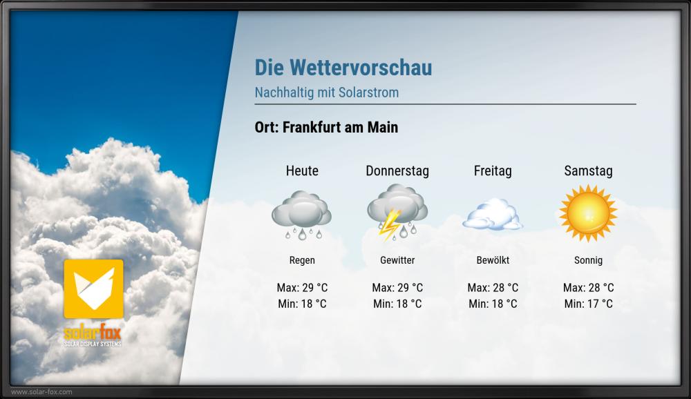 Wetter Frankfurt Donnerstag