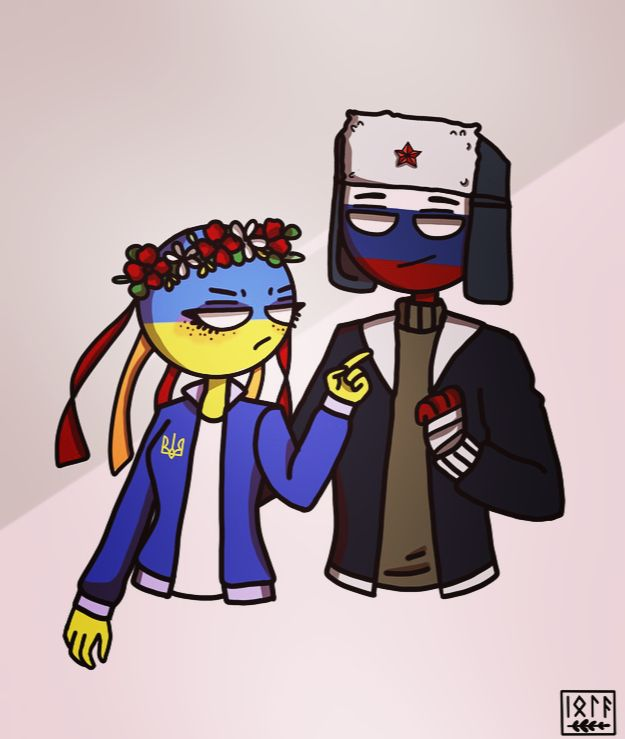 #Countryhumans #Ukraine #Russia (With images) | Україна ...
