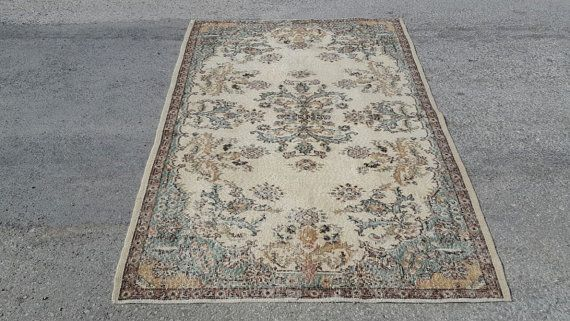 Handwoven Carpet Rug 6.9x4.1 Feet 207x126 Cm Home Floor Decor Vintage Carpet Rug Anatolin Carpet Rug Etnci Carpet Rug