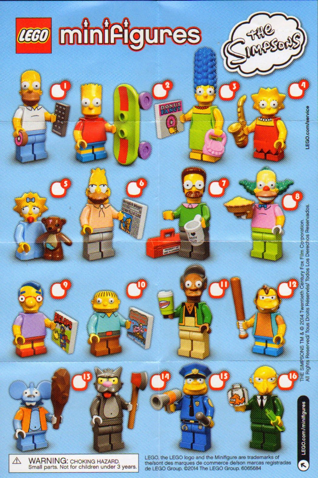 the minifigure collector lego minifigure series 1 14 movie simpson checklists and visual. Black Bedroom Furniture Sets. Home Design Ideas