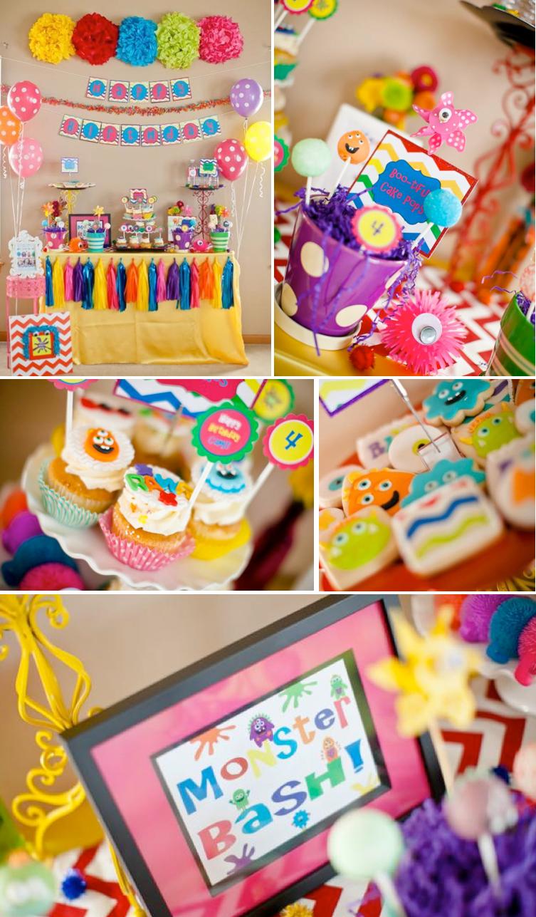 Monster Party Theme THE Cutest Girly Bash Themed Birthday With SO Many Cute Ideas Via Karas