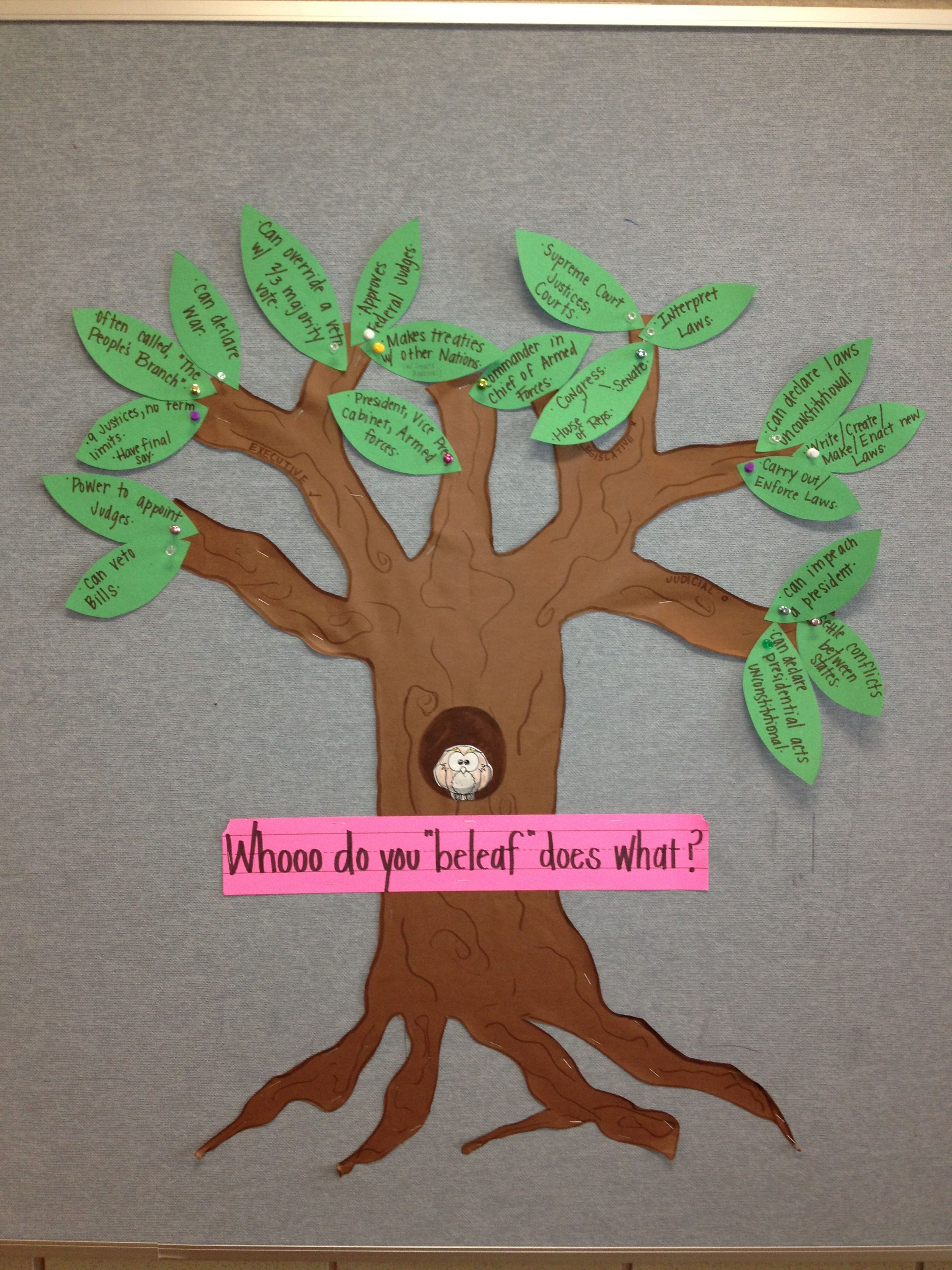 3 Branches Of Government Self Correcting Interactive Bulletin Board Branches Are Labeled And