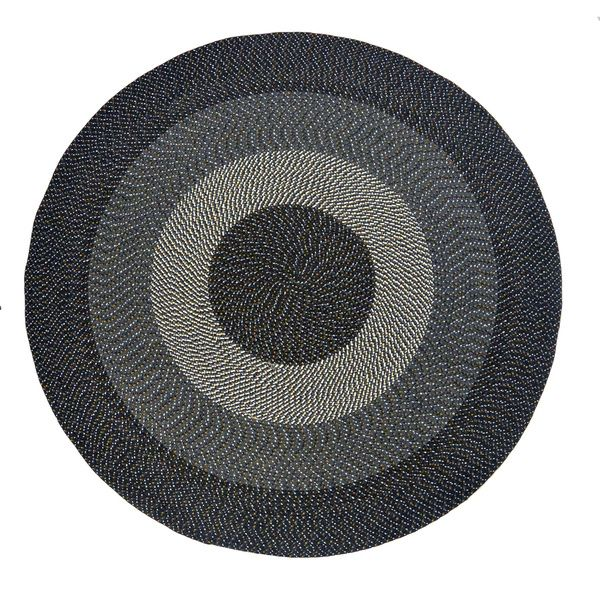 Eastwick Black And Off White Braided Rug 8 Round